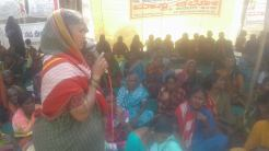 Chinnamma addressing women's rally