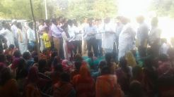 JMS women handing over demands to MLC and MLA
