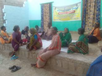 Janaadhikara Abhiyana - discussion in Jalavadige village (Diddige GP)